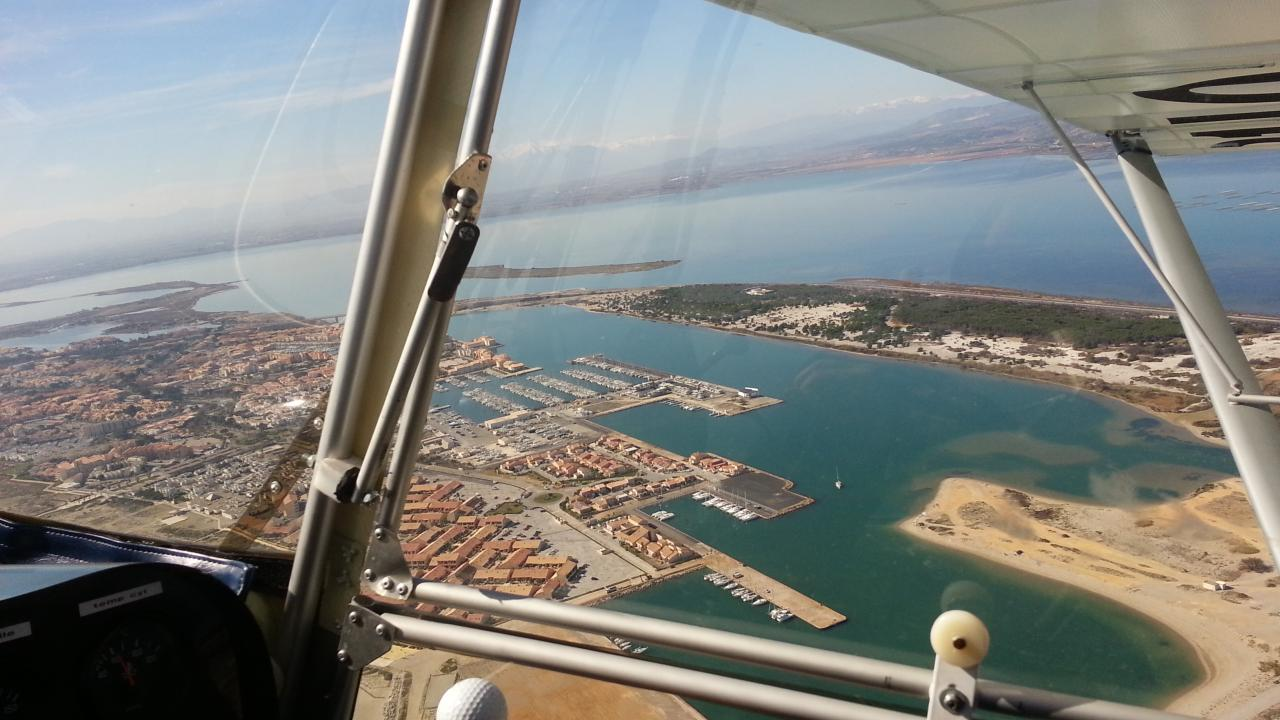 Le Port de Leucate et l'étang