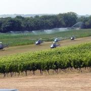 Hélicoptère sur la base ULM de La Ramière 3