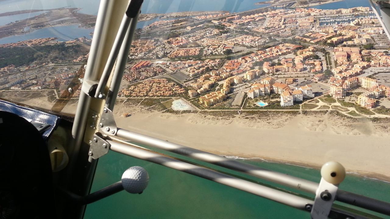 Port Leucate et la plage