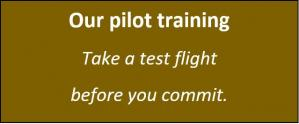 Capture our pilot training