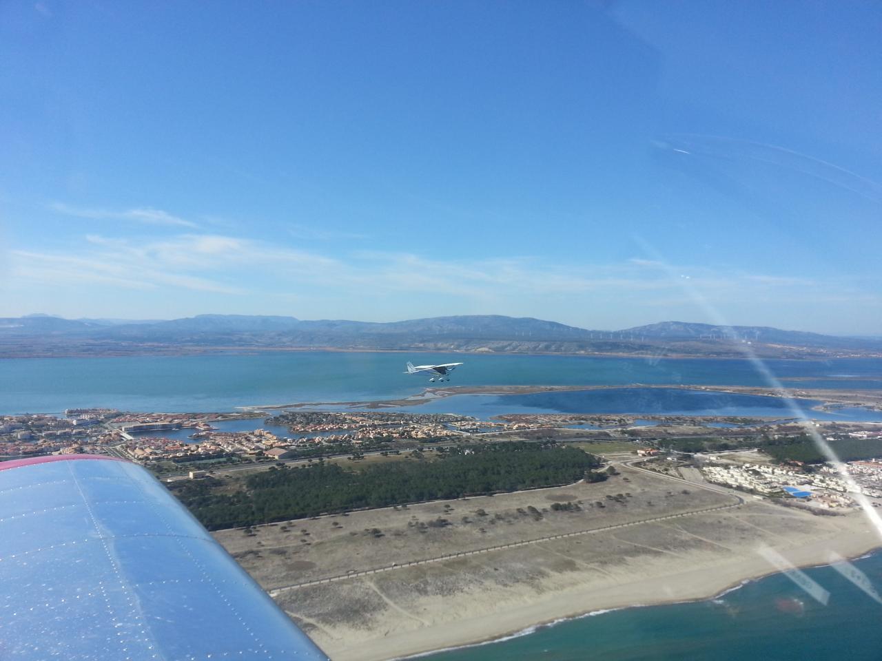2 ULM dans le ciel du Languedoc Roussillon