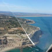Balade ULM Les falaises de La Franqui