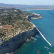 Cap Leucate, les falaises de La Franqui